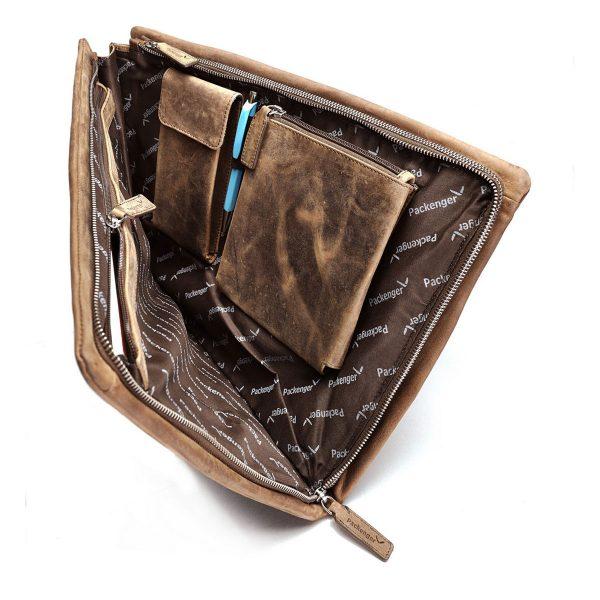 Adam - Notebook-Tasche aus weichem Leder von Packenger
