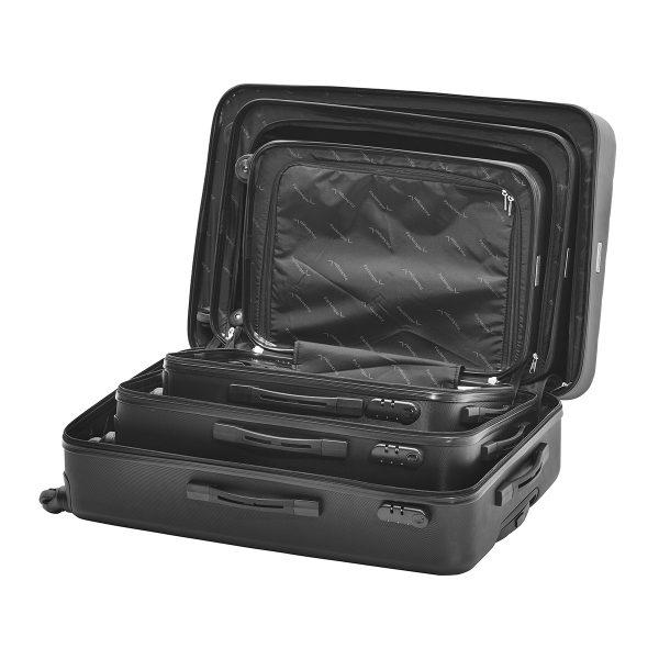 Packenger Kofferset Razor schwarz