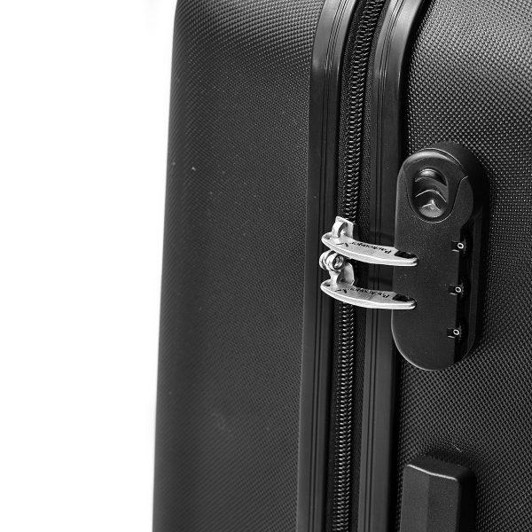Packenger Kofferset Razor schwarz mit Zahlenschloss