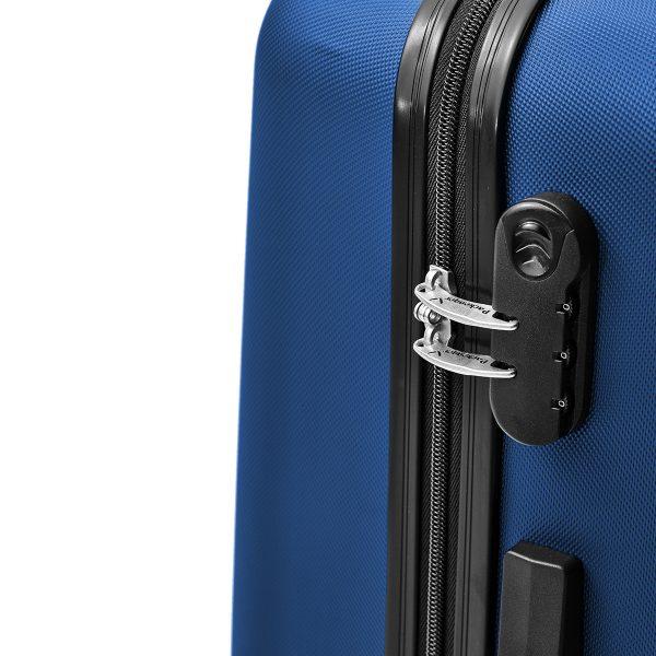 Packenger Kofferset Razor blau mit Zahlenschloss
