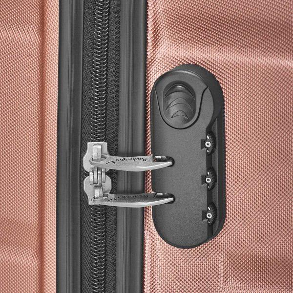 Packenger Kofferset Carli rosé Zahlenschloss