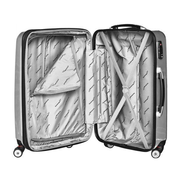 Packenger Hartschalenkoffer Stone silber