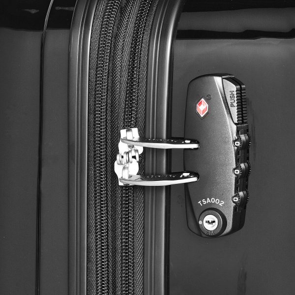 Packenger Hartschalenkoffer Stone schwarz mit Zahlenschloss