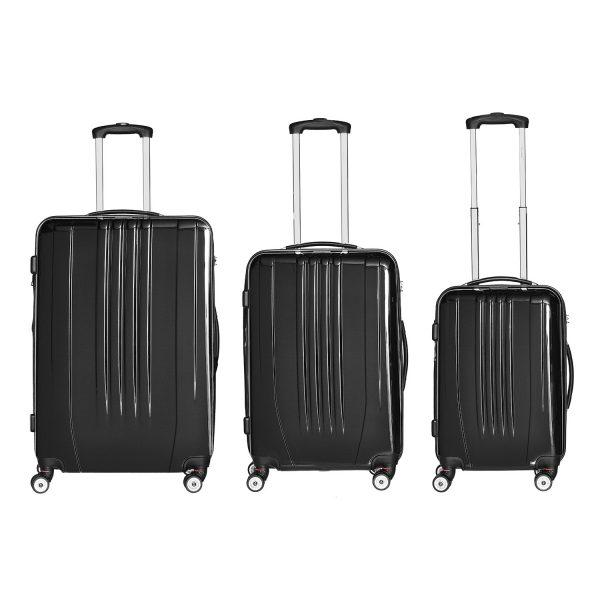Packenger Kofferset Stone schwarz